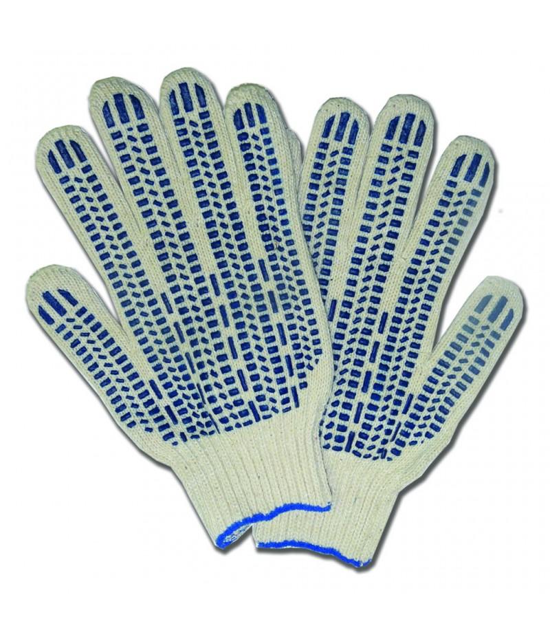 Перчатки х/б с ПВХ точка